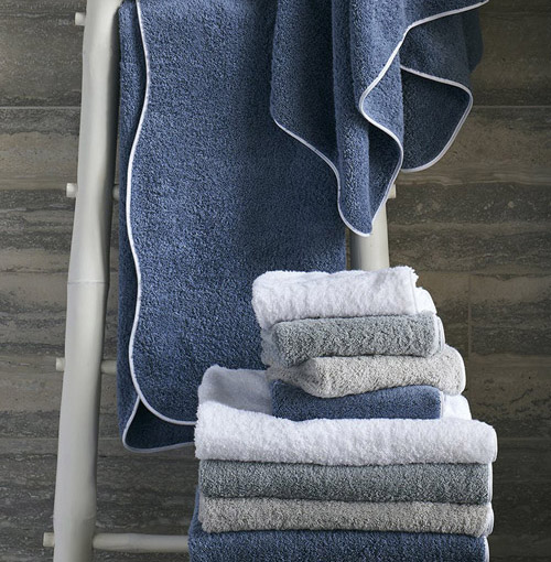 image of embroidered towels at Bedded Bliss