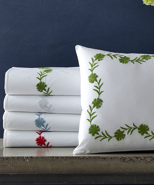bedding from matouk, daphne