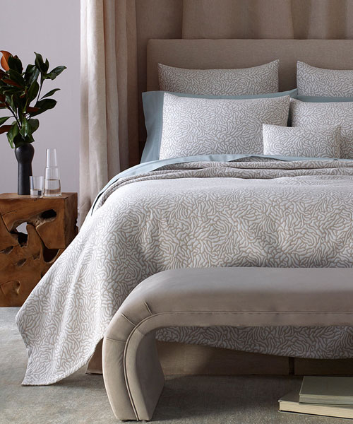 bedding from matouk, cora