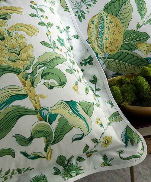 bedding from matouk, pomegranate